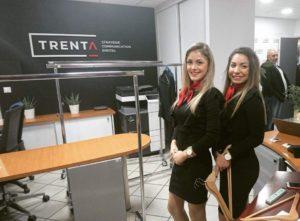 Hôtesses Crown Agency, accueil et vestiaire pour cet Afterwork Trenta Axome